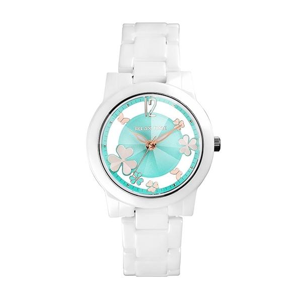 【Relax Time】Garden系列鏤空陶瓷時尚腕錶-活潑綠/RT-80-7/台灣總代理公司貨享一年保固