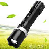 迭影多功能強光手電筒LED可充電遠射防身防水軍家用超亮迷你戶外『摩登大道』