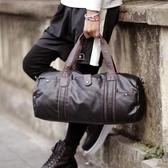 健身包斜背包男士手提旅行包防水斜跨單肩包pu皮質行李包出差登機包旅游健身包