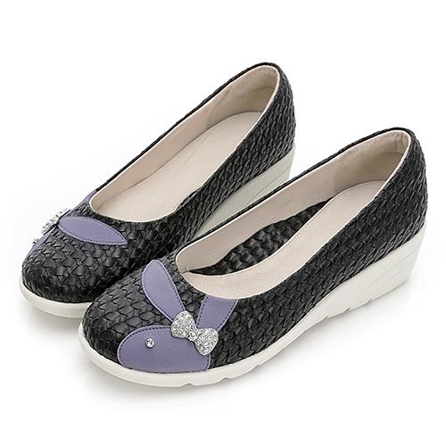 PLAYBOY GOPLAY Charming專利娃娃鞋-黑(Y7292)