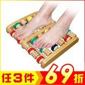 腳底木質滾輪按摩器 腳底按摩珠 彩珠六排【AE03109】JC雜貨