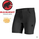 【MAMMUT Runbold Shorts 女《石墨灰》短褲】1020-09921-0121/長毛象/UPF40+/彈性透氣/防潑水