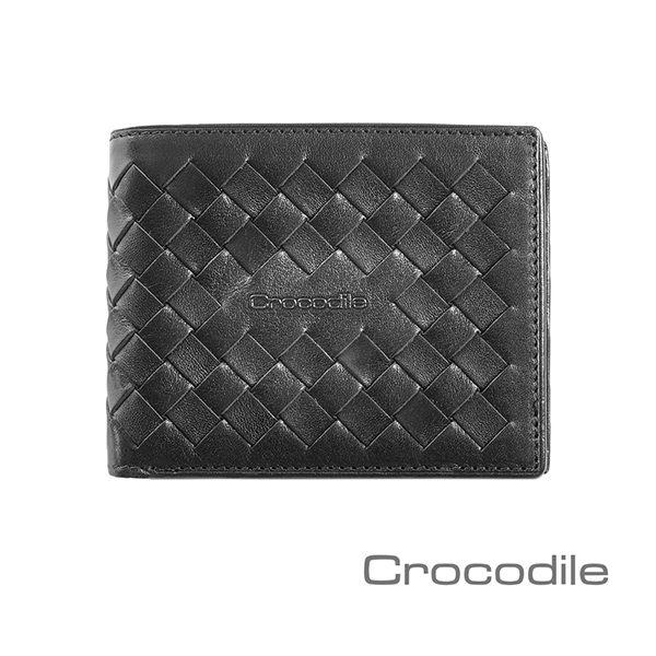 Crocodile 義大利植鞣製皮 Natural x Woven 編織短夾/皮夾/薄型 0103-07305