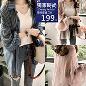 克妹Ke-Mei【AT51355】浪漫小女人 微光透視排釦深V開襟襯杉式外套