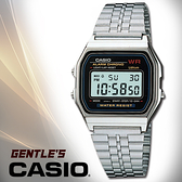 CASIO 手錶專賣店 DIGITAL A159WA-N1DF 不鏽鋼復古風潮方形電子男錶 生活防水 LED照明 A159WA