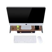 筆記本電腦顯示器增高架置物架底座辦公桌面鍵盤收納架