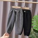 兒童棉褲 兒童褲子加絨加厚2021春裝男童韓版小童寶寶運動褲女童保暖【快速出貨八折下殺】