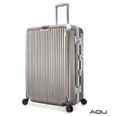 AOU 極速致美系列 25吋PC防刮專利設計鋁框行李箱(香檳金)90-020B