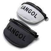 KANGOL 腰包 斜背包 網眼 灰白 兩色 大LOGO 可調式 (布魯克林) 60553007-