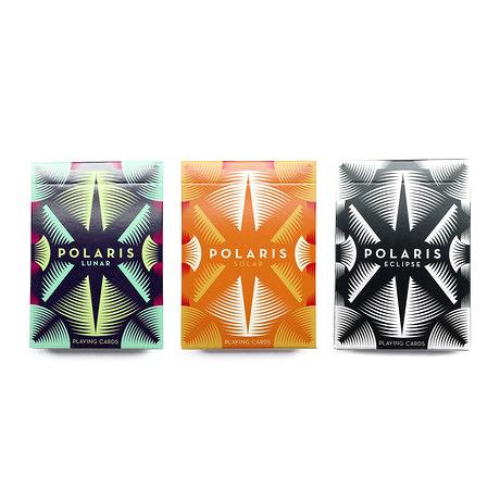 【USPCC 撲克】Polaris PLAYING CARDS  lunar藍色/solar橘色/eclipse黑色