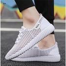 洞洞鞋男夏季外穿涼鞋韓版潮流鏤空透氣鞋時尚休閒運動小白網面鞋 快速出貨