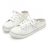 PLAYBOY 活力甜心 休閒綁帶穆勒鞋-白(Y6223)