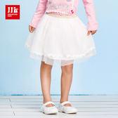 JJLKIDS 女童 法式優雅女孩蕾絲紗裙(白色)