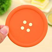 ✭慢思行✭【X29】糖果色圓形鈕扣杯墊 水杯 居家 廚房 餐具 碗盤 隔熱 防滑 矽膠 防燙