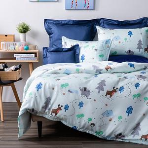 噴水大象防蟎抗菌天絲床被組 雙人 四件組
