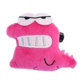 小禮堂 蠟筆小新 鱷魚 絨毛玩偶胸針 玩偶別針 造型胸章 (桃) 4549479-04116
