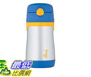 [6美國直購] 保溫杯 保冷杯 THERMOS FOOGO Vacuum Insulated Stainless Steel 10-Ounce Straw Bottle Blue/Yellow