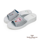 Paidal x 卡娜赫拉的小動物 - 花草藤蔓條紋一片式厚底涼拖鞋