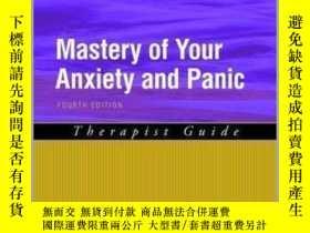 二手書博民逛書店Mastery罕見Of Your Anxiety And Panic: Therapist Guide (trea