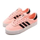 【六折特賣】adidas 休閒鞋 Sambarose W 橘 黑 奶油底 金標 鬆糕鞋 厚底增高鞋 女鞋【PUMP306】 F34240