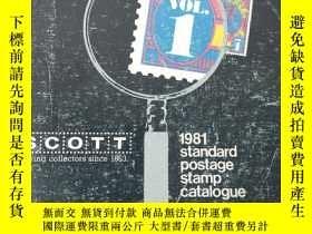 二手書博民逛書店SCOTT罕見1981 Standard Postage sta