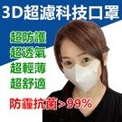 3D口罩 買2送2 輕溥透氣 盒裝 防飛沫 防霧霾 防塵 防PM2.5 (現貨10入1盒)