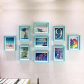 簡約照片牆裝飾 客廳相框牆創意相框掛牆7寸九宮格臥室組合相片牆 英雄聯盟igo