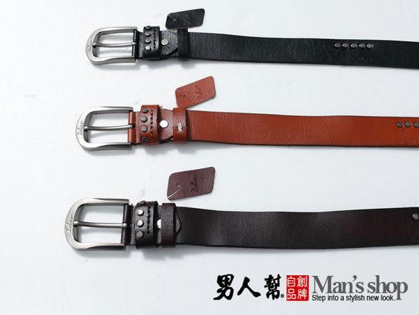 【男人幫】X0132*時尚單品【時尚皮革真皮皮帶】首爾購物節,附禮盒可送人