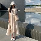 優質版韓國chic設計感氣質無袖連身裙女小眾不規則冷淡風長款裙子N505-F.依品國際