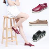 夏季韓國短筒低幫雨鞋女學生一腳蹬淺口平底雨靴防滑防水樂福鞋女 降價兩天