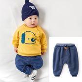 嬰兒長褲童裝寶寶褲子男童加絨褲冬裝新款小童牛仔褲女加厚嬰兒棉褲秋冬 【麥田家居】