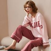 春秋季長袖睡衣女純棉兩件套裝薄款大碼可外穿休閒寬鬆韓版家居服 韓慕精品