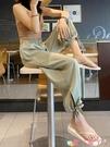 寬管褲墜感束腳褲女冰絲雪紡燈籠褲夏季薄款防蚊大人高腰垂感寬鬆闊腿褲 愛丫 新品