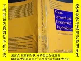 二手書博民逛書店原版英法德意等外文罕見Client-Centered and Experiential Psycho 大32開平裝