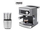【歐風家電館】(送磨豆機)PRINCESS 荷蘭公主 20bar 半自動 義式 濃縮咖啡機 249407 (參考EES200E)