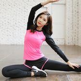 萬聖節快速出貨-運動跑步套裝女專業瑜伽服三件套秋冬健身房緊身長褲短袖上衣