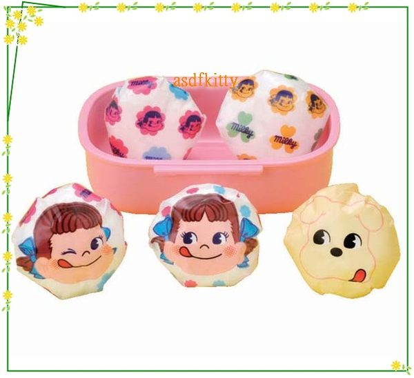 asdfkitty可愛家☆PEKO不二家牛奶妹圓球飯糰包裝紙-方便拿取食用-可愛形狀刺激食慾--日本製