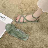 2020新款夏季涼鞋女ins潮仙女風時裝禮服平底學生網紅百搭羅馬鞋 非凡小鋪