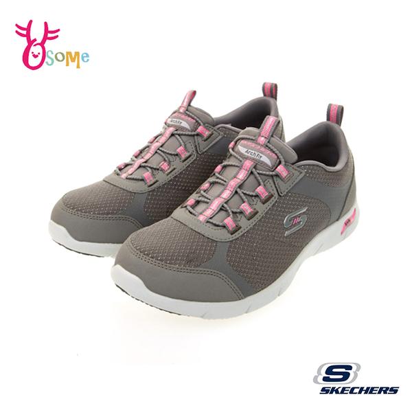 Skechers運動鞋 女鞋 ARCH FIT REFINE 寬楦款 足弓鞋墊 輕量避震緩衝休閒鞋 跑步鞋 W8212#灰粉