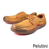 【Pelutini】德州風綁帶膠底休閒鞋  棕色(8363-TAN)