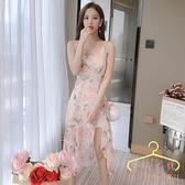 150cm155矮個子氣質小吊帶連身裙 夏裝顯高時髦性感中長款仙女裙子 萬聖節狂歡價