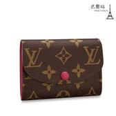 【巴黎站二手名牌專賣店】*全新現貨*LV 路易威登 真品*M41939 ROSALIE系列紫紅色釦式零錢包