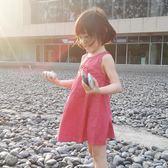 連身裙1-2-4-6歲女寶寶背心裙韓版兒童無袖