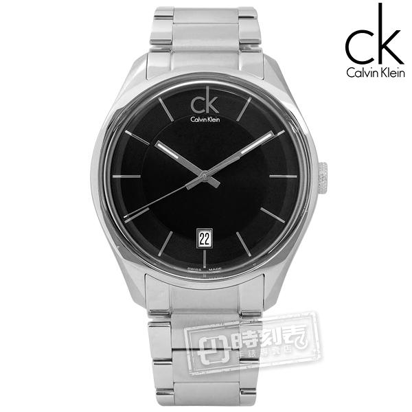 CK / K2H21104 / Masculine 摩登現代 瑞士機芯 不鏽鋼手錶 黑色 42mm