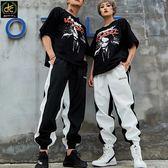 情侶款韓國流行復古寬鬆嘻哈褲 黑《P3225》