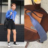 聖誕節交換禮物-2018韓系學院風學生正裝休閒氣質配飾復古簡約條紋領帶女