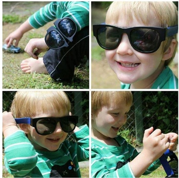 啪啪圈摺疊偏光太陽眼鏡 可摺疊太陽眼鏡 眼鏡手環【Mr.1688先生】