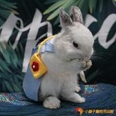 韓版寵物兔子衣服牽引遛兔繩垂耳幼兔侏儒兔裝飾品服飾帽子【小獅子】