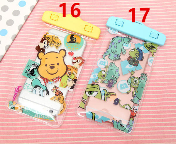 iPhone6 免運 6plus note5 note4 S6 6吋下通用手機防水袋通用蘋果三星小米卡通可觸屏(最大防水深度:20M)
