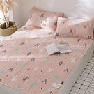 涼感透氣天絲雙人雪涼蓆(含枕套)-粉色仙...